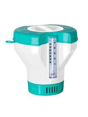 Dosatore galleggiante con termometro per piscina