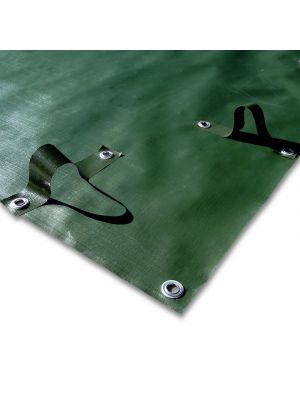 Copertura invernale 6 x 9,5 m per piscina 4 x 8 m - predisposto per tubolari