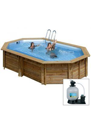 GRENADE 403 x 303 x h 116 - filtro SABBIA - piscina fuori terra in legno sistema omega - Gré