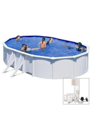 BORA BORA - 610 x 375 x h120 cm - filtro CARTUCCIA - Piscina fuoriterra rigida in acciaio colore bianco Dream Pool - Grè