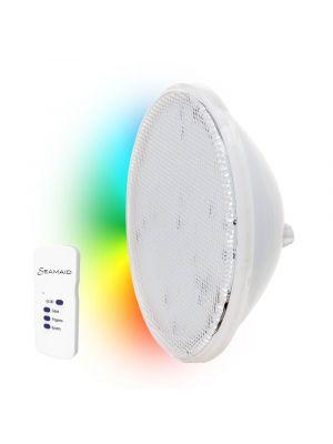 Seamaid 502839 Lampada faro a led standard PAR56, 90 Led RGB con telecomando 16W multicolor