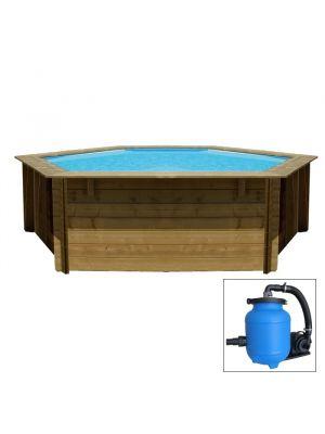 LILI ø 255 x h 90 - filtro AQUALOON - piscina fuori terra in legno sistema ad incastro - Gré