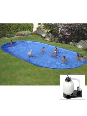 Piscina da interrare 600 x 320 x h 120 cm - filtro SABBIA - rigida in acciaio In Ground Pool - Grè