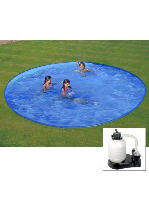 Piscina da interrare Ø 420 x h 120 cm - filtro SABBIA - rigida in acciaio In Ground Pool - Grè