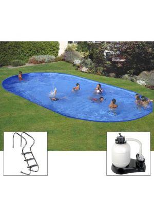 Piscina PLUS da interrare 800 x 400 x h 150 - filtro SABBIA - rigida in acciaio In Ground Pool - Grè