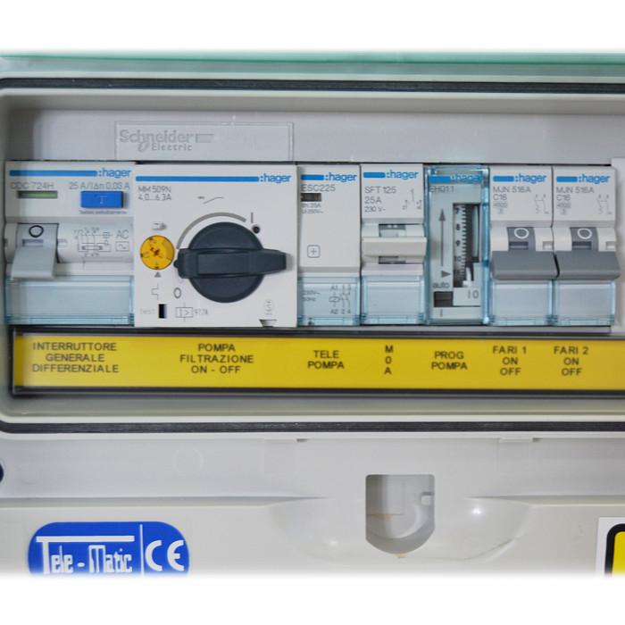Schema Elettrico Per Piscina : Quadro elettrico per piscina skimmer con pompa monofase fino a