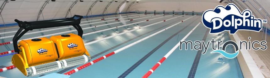 Robot pulizia piscine olimpioniche e di grandi dimensioni