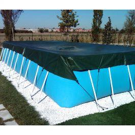 Telo di copertura invernale 4 00 x 7 50 m per piscina fuoriterra rettangolare - Saldatura telo pvc piscina ...