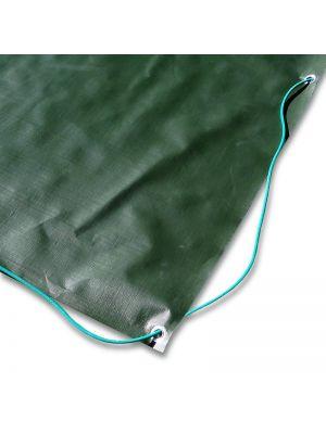 Copertura invernale 9 x 15,5 m per piscina 7 x 14 m - completo di borchie ed elastico