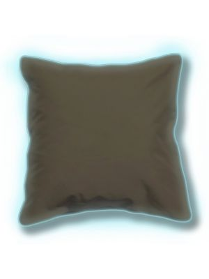 Cuscino grigio 65x65 cm con bordatura luminosa