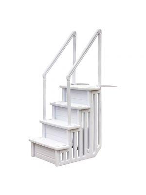 Scaletta per piscina interrata in materiale sintetico HPDE con 4 scalini