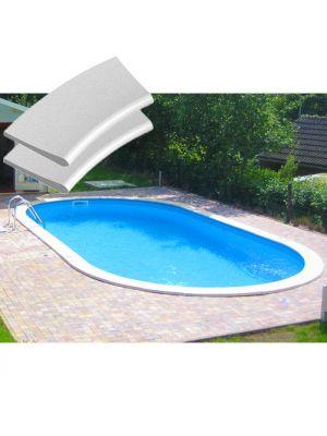 Kit bordi in pietra ricostruita per piscina interrabile 600 x 320 cm