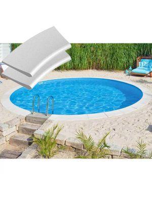 Kit bordi in pietra ricostruita per piscina interrabile Ø 420 cm