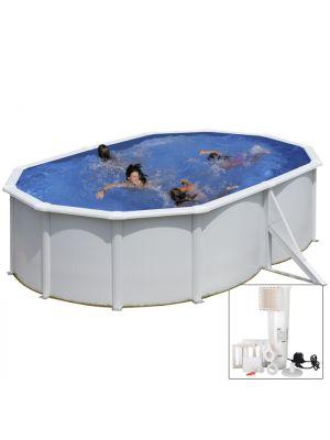 BORA BORA - 500 x 350 x h120 cm - filtro CARTUCCIA - Piscina fuoriterra rigida in acciaio colore bianco Dream Pool - Grè