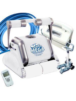 Robot pulitore piscina Dolphin Maytronics Mega Pro X per piscina in piastrelle