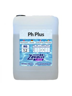 12 Lt PH plus - elevatore PH liquido per dosatori automatici per piscine