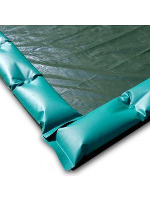 Telo invernale 11 X 6 con tubolari antivento antiribaltamento ad appoggio - per piscina 10 X 5
