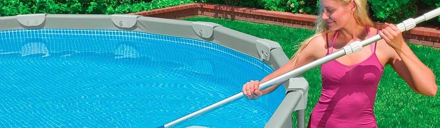 aste telescopiche per spazzola e aspirafango piscina