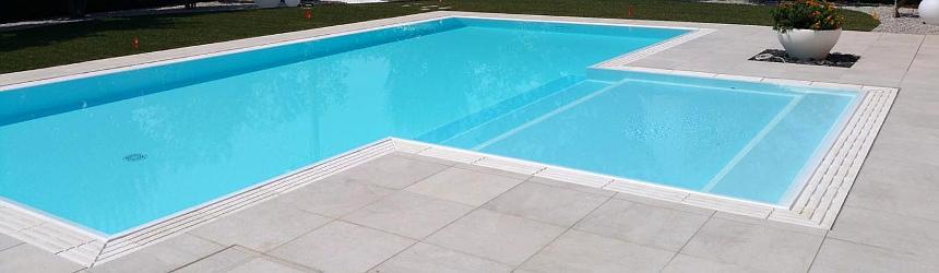 griglie per le piscine a sfioro