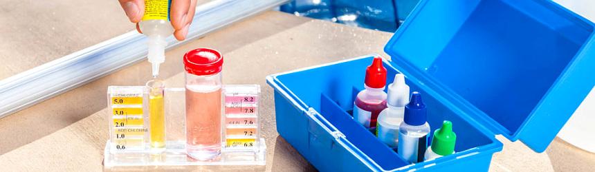 test kit per la prova dell'acqua