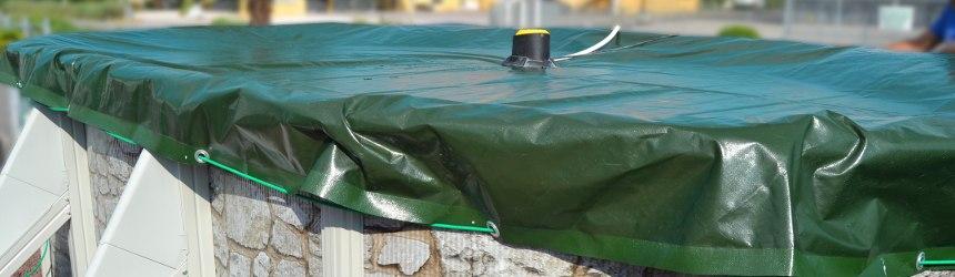 Coperture invernali per piscine fuoriterra in acciaio o pvc for Teli per coprire piscine fuori terra