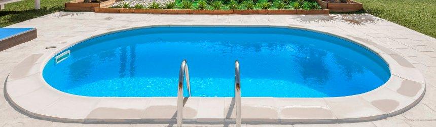 Kit bordi completo per completare le piscine interrate Gre' rotonde ed ovali