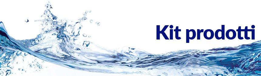 i nostri kit sono composti dai prodotti fondamentali per il trattamento dell'acqua