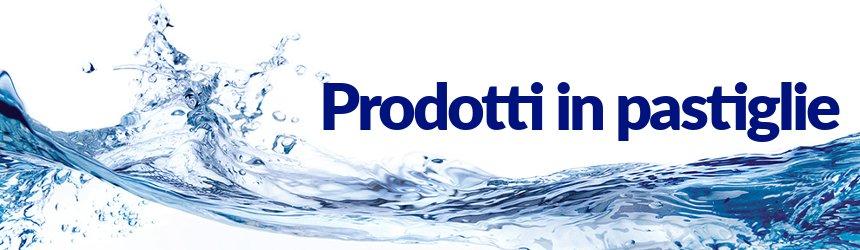 I prodotti chimici in pastiglie sono l'ideale per il mantenimento dell'acqua della piscina.