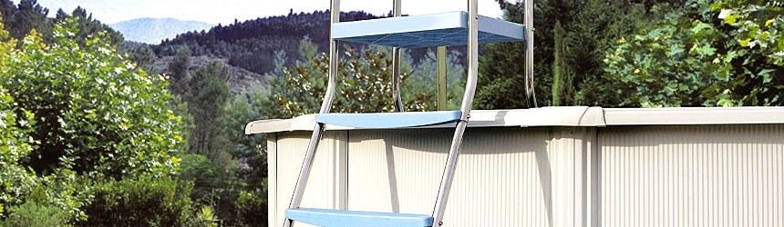 Scalette per accesso in piscine per fuori terra