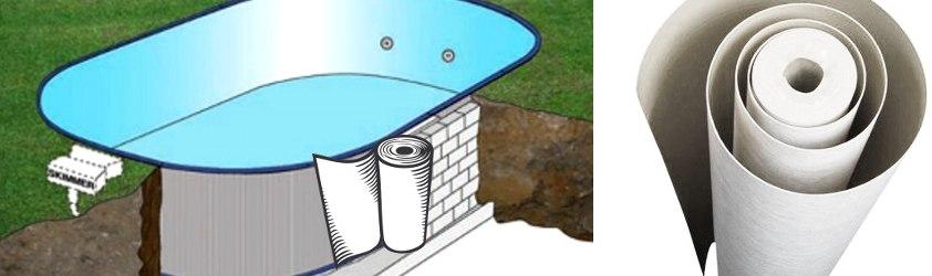 Materassino laterale per proteggere le pareti della piscina quando viene interrata