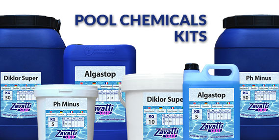Pool chemicals products kits