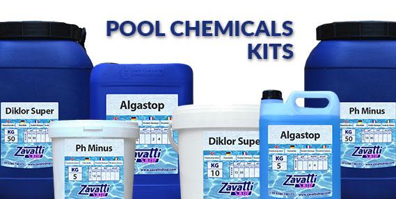 Wasserpflege kit für schwimmbad